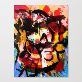 Abstraction Lyrique avec vitesse Canvas Print