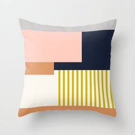 Sol Abstract Geometric Print in Multi Throw Pillow