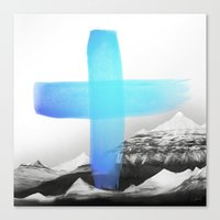 mountains Canvas Prints featuring Mountains by Amy Hamilton