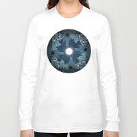 prague Long Sleeve T-shirts featuring prague city by Darthdaloon