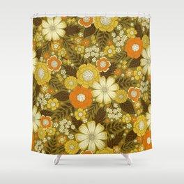 1970s Retro/Vintage Floral Pattern Shower Curtain