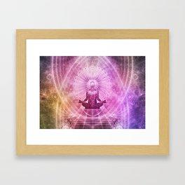 transcendental meditation Framed Art Print