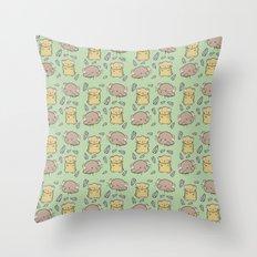 Hamster Pattern Throw Pillow