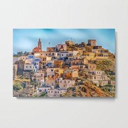 Beautiful Town - Karpathos Island, Greece Metal Print