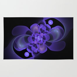 Beautiful abstract fractal flower Rug
