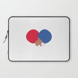 table tennis bat and ball Laptop Sleeve