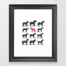 Brave Horses & Pink Pony Framed Art Print