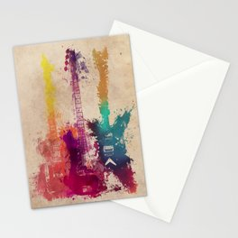 guitars 2 Stationery Cards