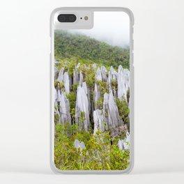 Limestone pinnacles formation at Gunung Mulu national park Borneo Malaysia Clear iPhone Case