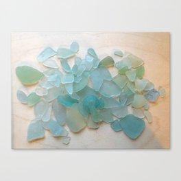 Ocean Hue Sea Glass Canvas Print