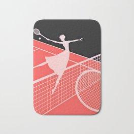 """""""Love – Tennis Suite 2"""" Art Deco Design by Erté Bath Mat"""
