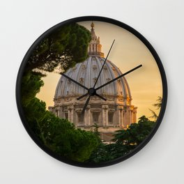 Sunset At The Vatican Wall Clock