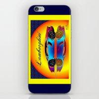 lamborghini iPhone & iPod Skins featuring Lamborghini Aventador by JT Digital Art