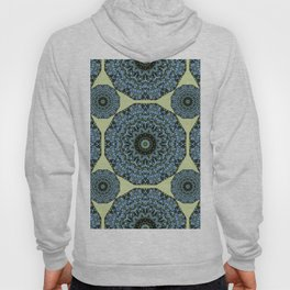Floral mandala-style, Forget-me-nots 005.5 Hoody