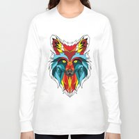 wolf Long Sleeve T-shirts featuring Wolf by mark ashkenazi