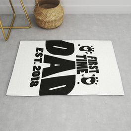 First Time Dad To Be Fathers Day Gift - Promoted Daddy Rug