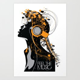 Feel The Music Art Print