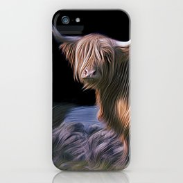 Hairy Scottish Highland cow iPhone Case