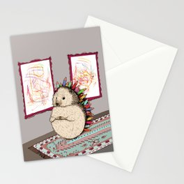 Hedgehog Artist Stationery Cards