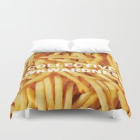 fries Duvet Covers featuring FRIES, ANYONE?  by Collective Awkwardness