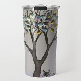 Prescott Whimsical Cat and Tree Travel Mug