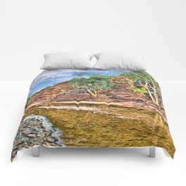 Rocks at Brachina Gorge, Flinders Ranges, Sth Australia Comforters