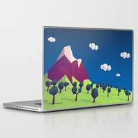 low poly Laptop & iPad Skins featuring Low-Poly Mountain by Jorge Antunes