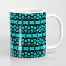 Abstract Pattern Dividers 02 in Turquoise Black Mug