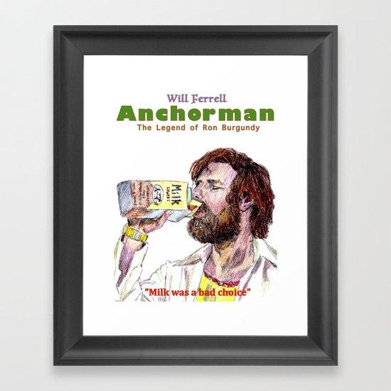 Anchorman: The Legend of Ron Burgundy Framed Art Print