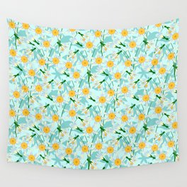 blooming daffodils Wall Tapestry