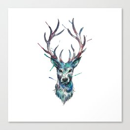 Watercolour Deer Spirit Animal Canvas Print