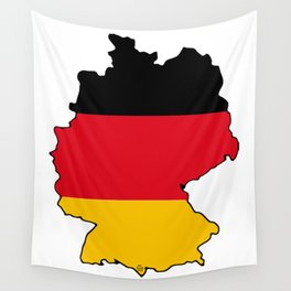 Germany Map with German Flag Wall Tapestry