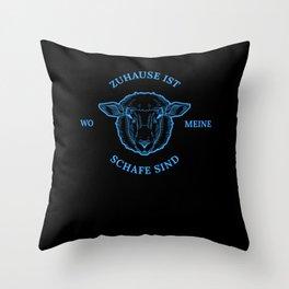 Zuhause ist wo meine Schafe sind - Schafstall Schaf Weide Throw Pillow
