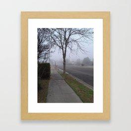 Foggy Winter morning Framed Art Print