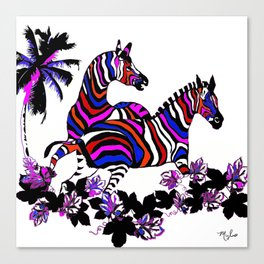 Zebra Rainbow #1 Canvas Print