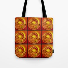 Abstract Collage Orange Art. Tote Bag