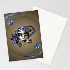 Blue Mask Stationery Cards