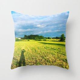Chemin Richelieu, Saint-Mathias, Québec, Cananda Throw Pillow