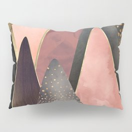 Pink and Gold Peaks Pillow Sham
