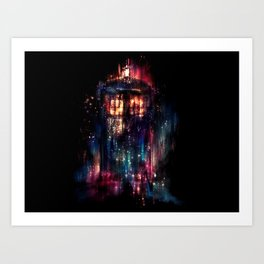TARDIS Doctor Who Abstract Time Space Travel Art Print