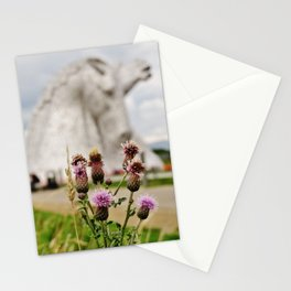 Falkirk Kelpies Scottish Thistles Stationery Cards