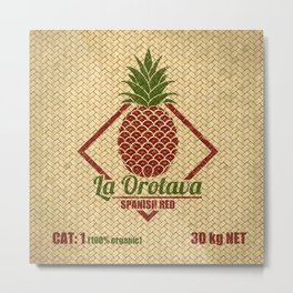 La Orotava Valley pineapple basket Metal Print