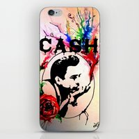 johnny cash iPhone & iPod Skins featuring Johnny Cash by suzannelola_art