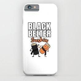 Black Belt Sushi iPhone Case