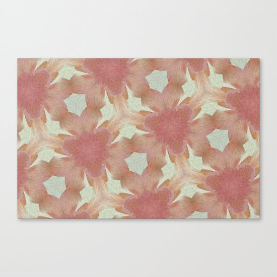 Geometric Floral Design - Pink Canvas Print