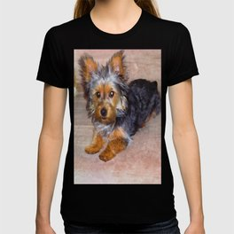 Silky Terrier Puppy - rendered as watercolor T-shirt