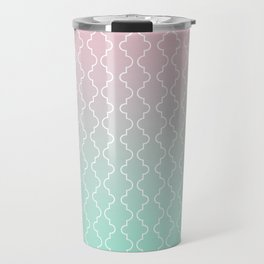 Moroccan pattern with mint, pink and gold Travel Mug