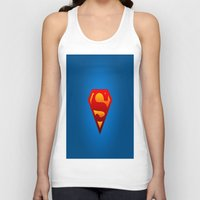 superhero Tank Tops featuring SUPERHERO by Acus