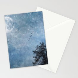 Moon lit flight Stationery Cards