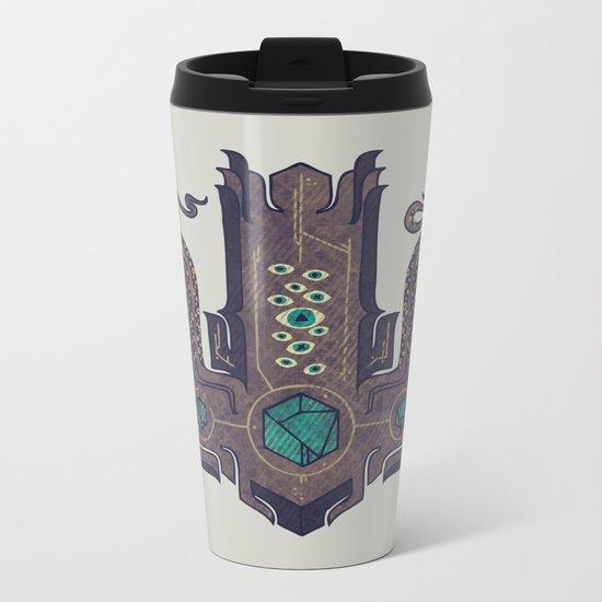 The Crown of Cthulhu Metal Travel Mug